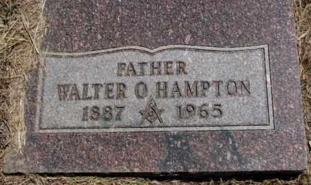 HAMPTON, WALTER O. - Jones County, South Dakota | WALTER O. HAMPTON - South Dakota Gravestone Photos