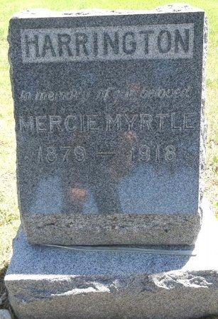 HARRINGTON, MERCIE - Jones County, South Dakota | MERCIE HARRINGTON - South Dakota Gravestone Photos