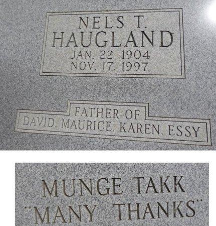 HAUGLAND, NELS - Jones County, South Dakota   NELS HAUGLAND - South Dakota Gravestone Photos