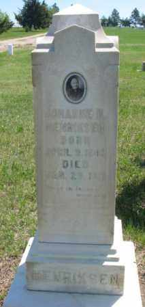 HENRIKSEN, JOHANNE K. - Jones County, South Dakota   JOHANNE K. HENRIKSEN - South Dakota Gravestone Photos