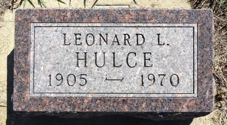 HULCE, LEONARD L. - Jones County, South Dakota   LEONARD L. HULCE - South Dakota Gravestone Photos