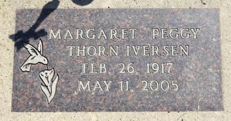 THORN IVERSEN, MARGARET - Jones County, South Dakota | MARGARET THORN IVERSEN - South Dakota Gravestone Photos