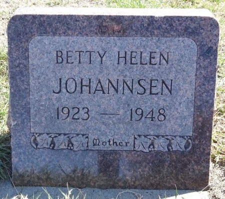 JOHANNSEN, BETTY - Jones County, South Dakota | BETTY JOHANNSEN - South Dakota Gravestone Photos
