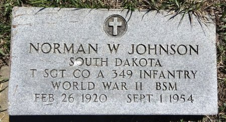 JOHNSON, NORMAN - Jones County, South Dakota | NORMAN JOHNSON - South Dakota Gravestone Photos
