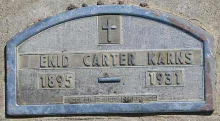 KARNS, ENID - Jones County, South Dakota | ENID KARNS - South Dakota Gravestone Photos