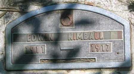 KIMBALL, EDWIN - Jones County, South Dakota | EDWIN KIMBALL - South Dakota Gravestone Photos