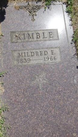 KIMBLE, MILDRED - Jones County, South Dakota   MILDRED KIMBLE - South Dakota Gravestone Photos