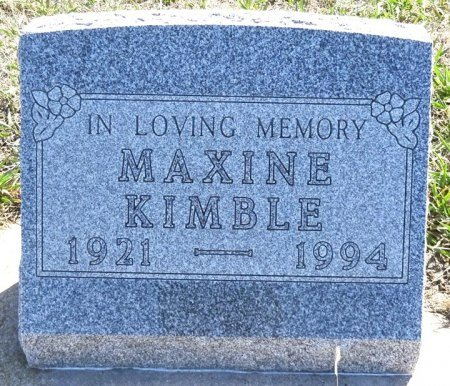 KIMBLE, MAXINE - Jones County, South Dakota | MAXINE KIMBLE - South Dakota Gravestone Photos