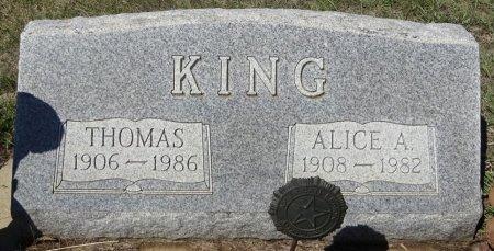 KING, ALICE - Jones County, South Dakota | ALICE KING - South Dakota Gravestone Photos