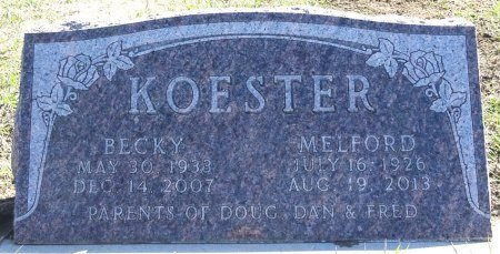 KOESTER, MELFORD - Jones County, South Dakota | MELFORD KOESTER - South Dakota Gravestone Photos