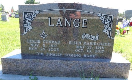 JAIDE LANGE, ELLEN - Jones County, South Dakota | ELLEN JAIDE LANGE - South Dakota Gravestone Photos