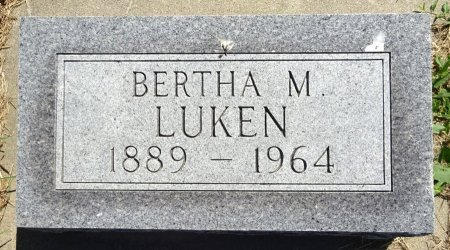 LUKEN, BERTHA - Jones County, South Dakota | BERTHA LUKEN - South Dakota Gravestone Photos