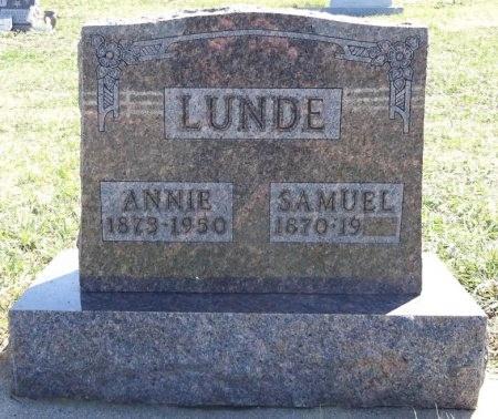 LUNDE, ANNIE - Jones County, South Dakota | ANNIE LUNDE - South Dakota Gravestone Photos