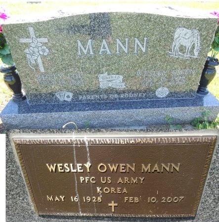 MANN, WESLEY - Jones County, South Dakota | WESLEY MANN - South Dakota Gravestone Photos