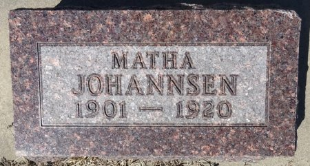 JOHANNSEN, MATHA - Jones County, South Dakota | MATHA JOHANNSEN - South Dakota Gravestone Photos