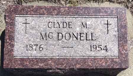 MCDONELL, CLYDE - Jones County, South Dakota | CLYDE MCDONELL - South Dakota Gravestone Photos