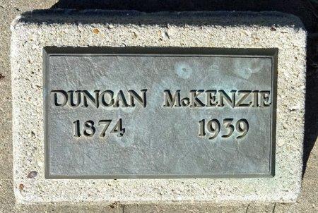 MCKENZIE, DUNCAN - Jones County, South Dakota   DUNCAN MCKENZIE - South Dakota Gravestone Photos