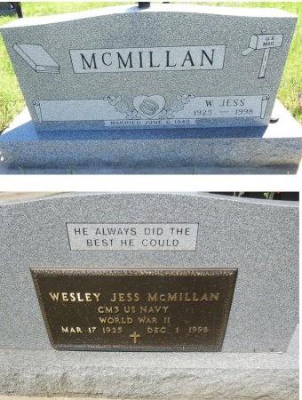MCMILLAN, WESLEY JESS - Jones County, South Dakota | WESLEY JESS MCMILLAN - South Dakota Gravestone Photos