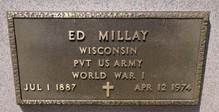 MILLAY, ED - Jones County, South Dakota   ED MILLAY - South Dakota Gravestone Photos