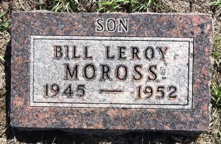 MOROSS, BILL - Jones County, South Dakota | BILL MOROSS - South Dakota Gravestone Photos