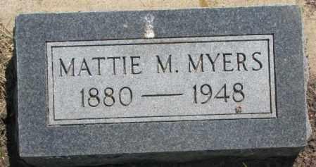 MYERS, MATTIE M. - Jones County, South Dakota | MATTIE M. MYERS - South Dakota Gravestone Photos