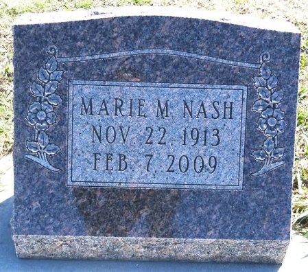 NASH, MARIE - Jones County, South Dakota | MARIE NASH - South Dakota Gravestone Photos