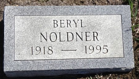 NOLDNER, BERYL - Jones County, South Dakota   BERYL NOLDNER - South Dakota Gravestone Photos