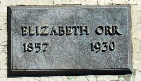 ORR, ELIZABETH - Jones County, South Dakota   ELIZABETH ORR - South Dakota Gravestone Photos