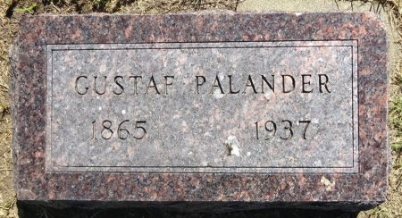 PALANDER, GUSTAF - Jones County, South Dakota | GUSTAF PALANDER - South Dakota Gravestone Photos