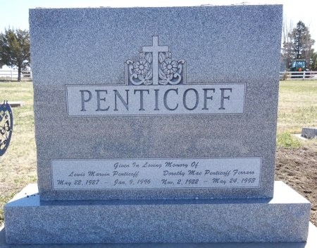 PENTICOFF, LEWIS - Jones County, South Dakota | LEWIS PENTICOFF - South Dakota Gravestone Photos