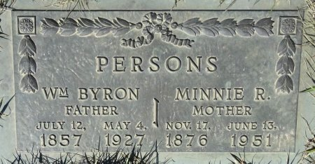 PERSONS, MINNIE - Jones County, South Dakota   MINNIE PERSONS - South Dakota Gravestone Photos