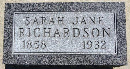 RICHARDSON, SARAH - Jones County, South Dakota   SARAH RICHARDSON - South Dakota Gravestone Photos