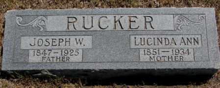 RUCKER, JOSEPH W. - Jones County, South Dakota | JOSEPH W. RUCKER - South Dakota Gravestone Photos