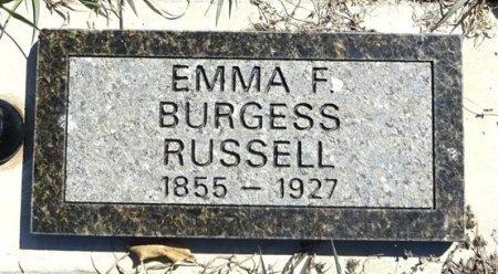 BURGESS RUSSELL, EMMA - Jones County, South Dakota   EMMA BURGESS RUSSELL - South Dakota Gravestone Photos