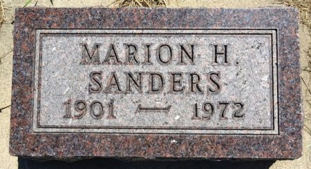 SANDERS, MARION - Jones County, South Dakota | MARION SANDERS - South Dakota Gravestone Photos