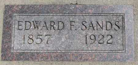 SANDS, EDWARD F. - Jones County, South Dakota | EDWARD F. SANDS - South Dakota Gravestone Photos