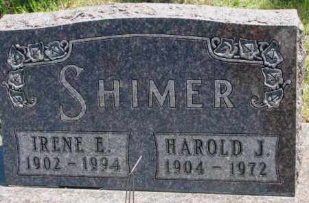 SHIMER, IRENE E. - Jones County, South Dakota | IRENE E. SHIMER - South Dakota Gravestone Photos