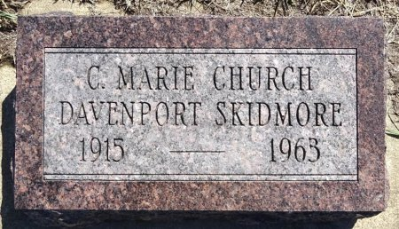 SKIDMORE, C. MARIE - Jones County, South Dakota | C. MARIE SKIDMORE - South Dakota Gravestone Photos
