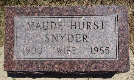 SNYDER, MAUDE - Jones County, South Dakota   MAUDE SNYDER - South Dakota Gravestone Photos