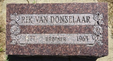 VAN DONSELAAR, RIK - Jones County, South Dakota | RIK VAN DONSELAAR - South Dakota Gravestone Photos