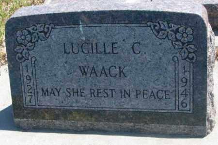 WAACK, LUCILLE C. - Jones County, South Dakota   LUCILLE C. WAACK - South Dakota Gravestone Photos
