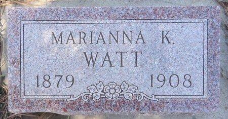 WATT, MARIANNA - Jones County, South Dakota   MARIANNA WATT - South Dakota Gravestone Photos