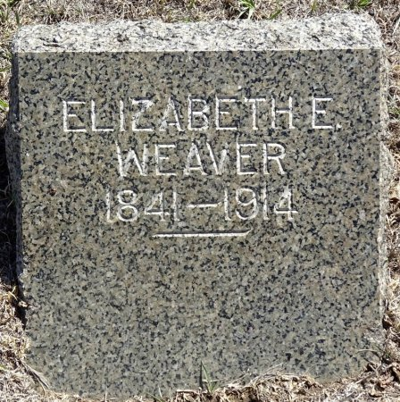 WEAVER, ELIZABETH - Jones County, South Dakota | ELIZABETH WEAVER - South Dakota Gravestone Photos