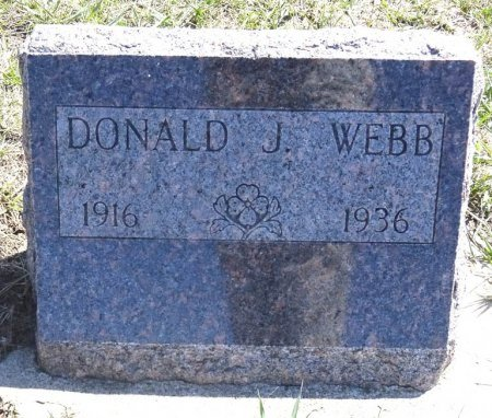 WEBB, DONALD - Jones County, South Dakota | DONALD WEBB - South Dakota Gravestone Photos