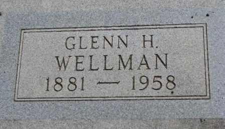 WELLMAN, GLENN H. - Jones County, South Dakota   GLENN H. WELLMAN - South Dakota Gravestone Photos