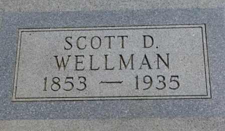 WELLMAN, SCOTT D. - Jones County, South Dakota | SCOTT D. WELLMAN - South Dakota Gravestone Photos