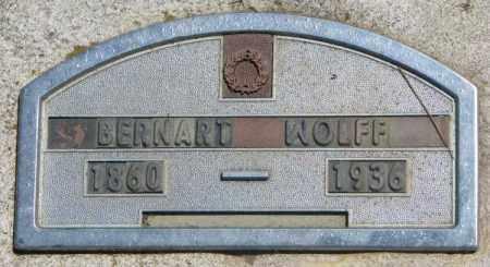 WOLFF, BERNARD - Jones County, South Dakota | BERNARD WOLFF - South Dakota Gravestone Photos