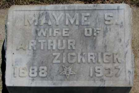 ZICKRICK, MAYME S. - Jones County, South Dakota   MAYME S. ZICKRICK - South Dakota Gravestone Photos