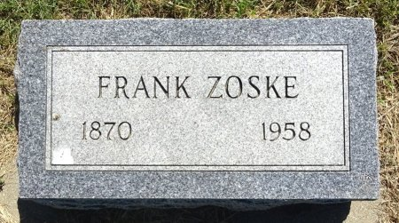 ZOSKE, FRANK - Jones County, South Dakota | FRANK ZOSKE - South Dakota Gravestone Photos