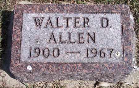 ALLEN, WALTER D - Kingsbury County, South Dakota | WALTER D ALLEN - South Dakota Gravestone Photos
